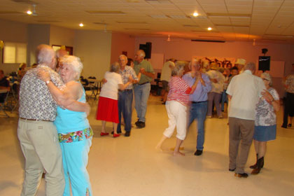 Senior adults dancing