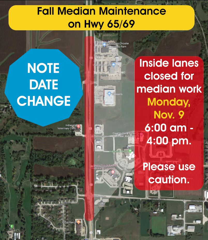 Fall Median Maintenance with note date change